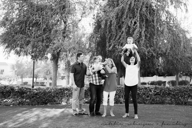 Dawn and Craig family 2015 black and white-92