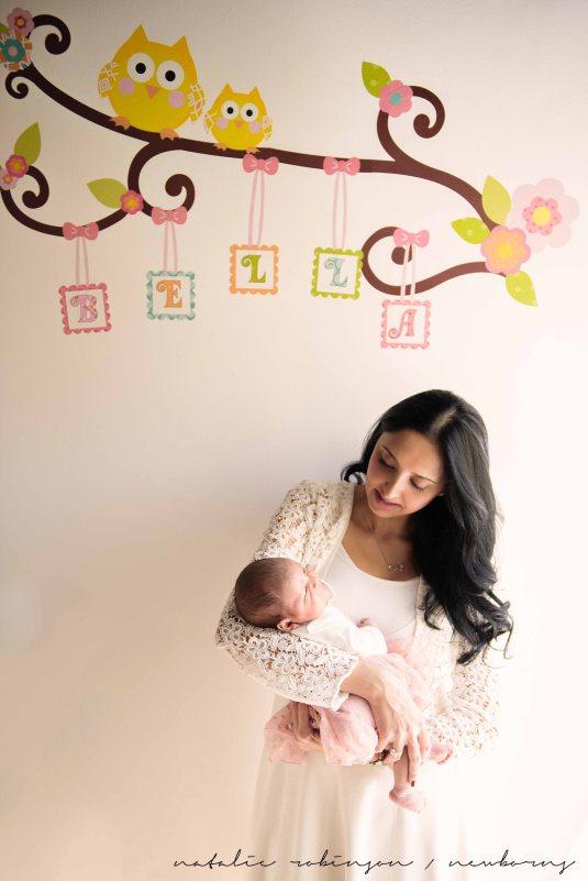 Farheen, Mihir and Bella newborn images-108