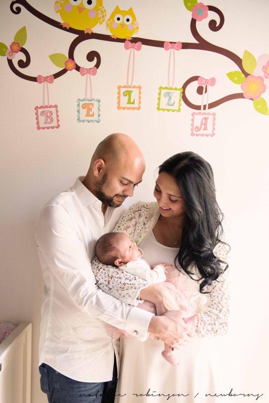 Farheen, Mihir and Bella newborn images-110